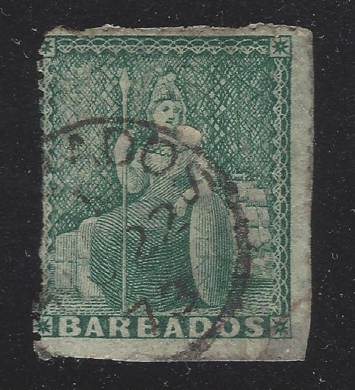 1870 Barbados 1/2p Sc# 39?, Used - Nice 1873 Date Cancel -  (BR21)