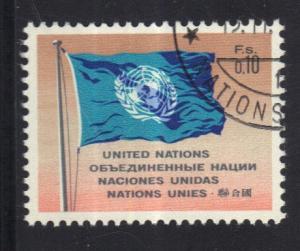 United Nations Geneva  #2  1969 cancelled  10 c