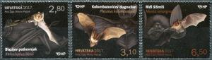 Croatia 2017. Bats (MNH OG) Set of 3 stamps