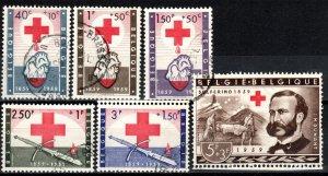 Belgium  #B641-6  F-VF Used CV $13.25 (X6629)