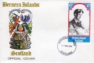 Bernera Islands 1979 International Year of The Child (ICY) W.B.Yeats S/S (1) FDC