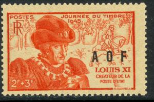 FRENCH WEST AFRICA 1945 STAMP DAY Semi Postal Sc B2 MNH