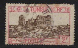 Tunis Tunisia Scott 103 used ruins stamp