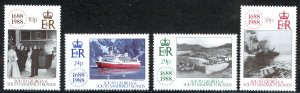 South Georgia Sc# 131-134 MNH 1988 Lloyds of London