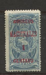 Guatemala - Scott 88 - Overprint Issue - 1898 -  MH - Single 1c on a 10c Stamp