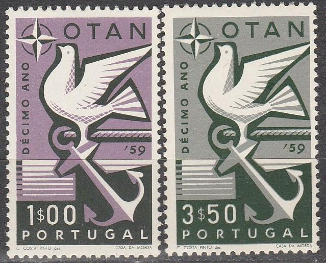 Portugal #846-7  F-VF Unused  $3.60   (S6070)