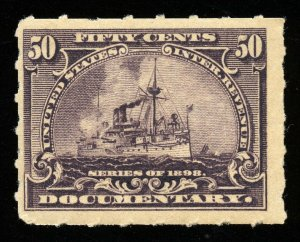 B272 U.S. Revenue Scott R171 50-cent Battleship, mint OG  never hinged