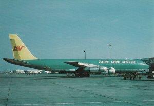 7602 Aviation Postcard  ZAIRE AERO SERVICE BOEING 707-327C  Airlines