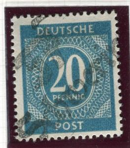 GERMANY RUSSIAN ZONE 1948 Currency Reform '37 SCHWERIN' Mint hinged 20pf. value