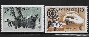 SWEDEN,1278-1279  HINGED, MAIL SERVICE BY BOAT