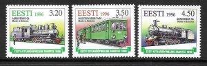 1996   ESTONIA  -  SG. 281 / 283  -  NARROW GAUGE RAILWAY  -  MNH