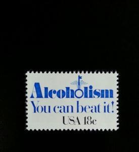 1981 18c Alcoholism, You can beat it! Scott 1927 Mint F/VF NH