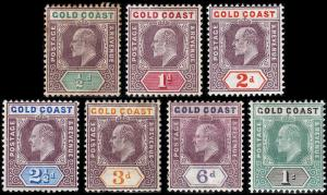 Gold Coast Scott 49-55 (1904-07) Mint H VF Complete Set, CV $269.50 B