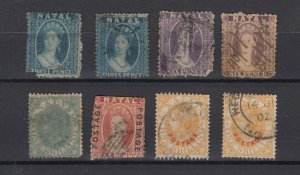 Natal QV Collection Of 8 Values Fine Used JK6154