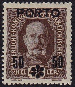 Austria - 1917 - Scott #J63 - mint - Surcharge