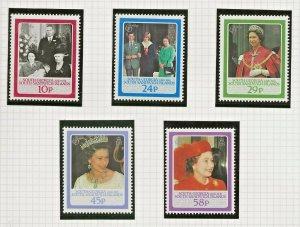 SOUTH GEORGIA & SANDWICH ISLES 1986 60TH BIRTHDAY QUEEN ELIZABETH II,SET PERF