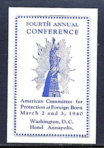 USA Cinderella American Committee for Protection of Foreign Born 1940