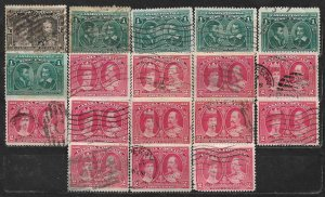 COLLECTION LOT OF 18 CANADA 1908+ STAMPS CV = $71 CLEARANCE
