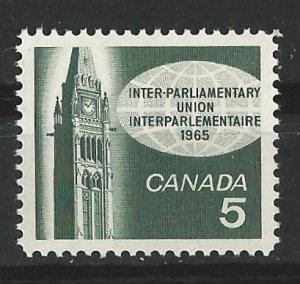 Canada # 441 Parliament Union  (1) Mint NH