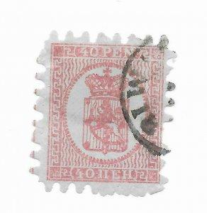 Finland #10 Perfs - Used - Stamp CAT VALUE $67.50