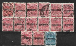 COLLECTION LOT OF 15 BRITISH SOUTH AFRICA COMPANY 1909+ STAMPS CLEARANCE CV+ $25