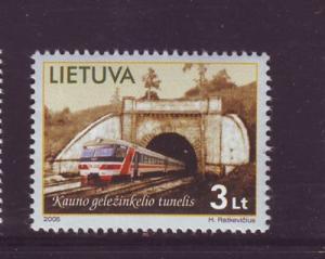 Lithuania Sc793 2005 Kaunus Tunnel Train stamp NH
