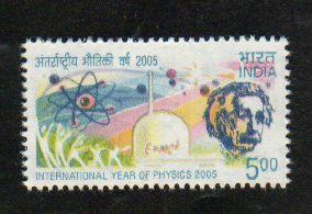 India  2005  # 2102   Albert Einstein  Intl. Year Of Physics   MNH   08143
