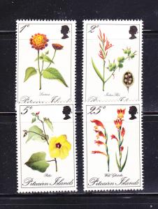 Pitcairn Islands 110-113 Set MNH Flowers (B)
