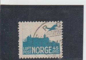 Norway  Scott#  C1  Used  (1934 Airplane over Akershus Castle)