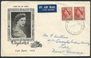 AUSTRALIA 1953 QE 3½d commem FDC........................................41033