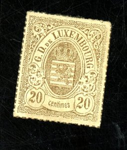 LUXEMBOURG #21 MINT F-VF NG HR Cat $120