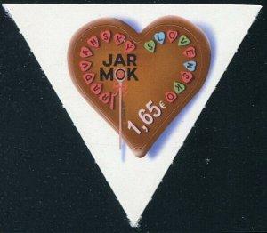 HERRICKSTAMP NEW ISSUES SLOVAKIA Sc.# 771 Radvan Fair Self-Adh. Heart Shaped