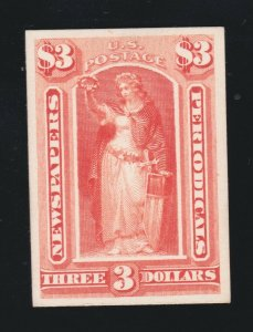 US PR25P4 Newspaper Periodical Proof on Card XF NH SCV $15