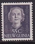 Netherlands New Guinea   #17  MH 1950  Juliana  55c