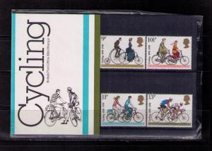 GREAT BRITAIN Sc# 843 - 846 MNH FVF Set4 PO Pack Bicycling