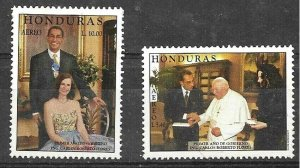HONDURAS 1999,PRESIDENT FIRST YEAR,VISIT POPE YV 971-2 MNH