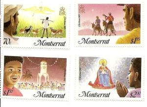 Montserrat 588-591 MNH