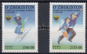 Uzbekistan stamp Winter olympics, Torino set 2006 MNH Mi 613-614 WS180615