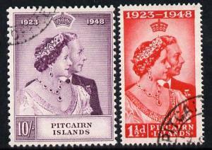 Pitcairn Islands 1949 KG6 Royal Silver Wedding perf set o...