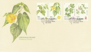 CI51) Christmas Island 2013 Flowering Shrubs FDC First Day Cover