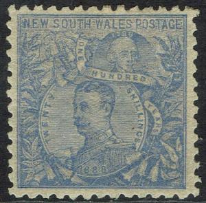 NEW SOUTH WALES 1888 CARRINGTON 20/- WMK 5/- PERF 10