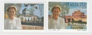 1997 Paola Ruffo Congiunta Italia Belgio 2 Valori Nuovi MNH** Belgium A20P6F245