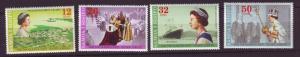 J19645 Jlstamps 1977 samoa set mnh #446-9 royality