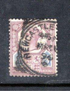 GREAT BRITAIN 118 QV Perfin SCV $8.50