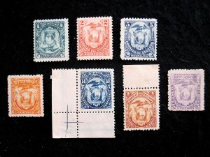 ECUADOR - SCOTT# 55-57,59-62 - MH - CAT VAL $26.50