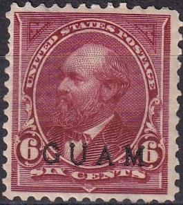 Guam #6  Used  CV $190.00 (A19713)