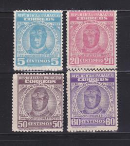 Paraguay 474-477 Set MHR Silvio Pettirossi, Aviator (A)