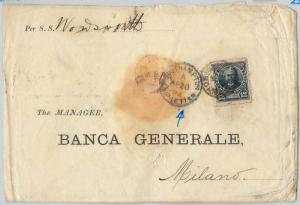 57976  -  ARGENTINA - POSTAL HISTORY: COVER to ITALY through SOUTHAMPTON 1892