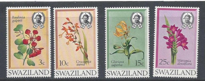 Swaziland MNH 183-6 Flowers Of Swaziland