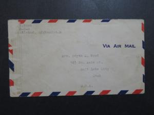 India / Afghanistan Hand Carried Airmail Cover to USA - Z9119